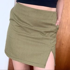 Urban Outfitters Houndstooth Mini Skirt